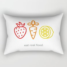 Eat Real Food. (light) Rectangular Pillow