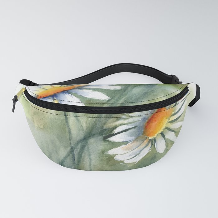Watercolor daisies Fanny Pack