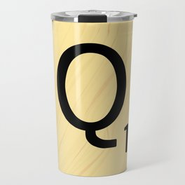 Scrabble Q - Large Scrabble Tile Letter Travel Mug