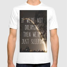 Dreaming or Sleeping White MEDIUM Mens Fitted Tee