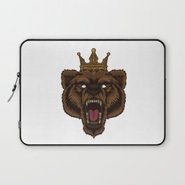 Roaring Bear With Crown | Wilderness Forest Tough Laptop Sleeve