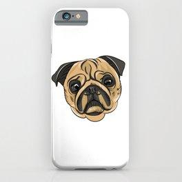 Pug Mans Best Friend iPhone Case