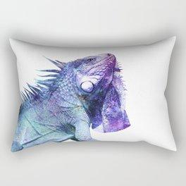 Galactic Iguana Rectangular Pillow