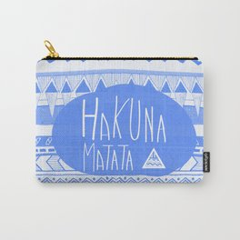 Hakuna Matata electric blue  Carry-All Pouch
