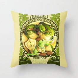 Birthstone Nouveau - August Throw Pillow