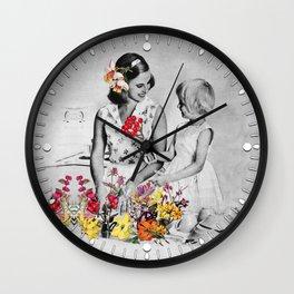 Plantae Wash Out Wall Clock