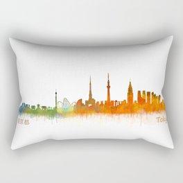 Tokyo City Skyline Hq V2 Rectangular Pillow