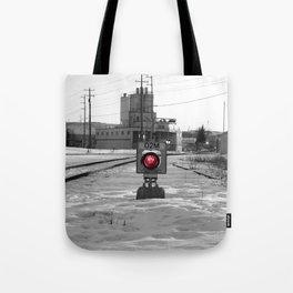 Train Track Signal Light Tote Bag