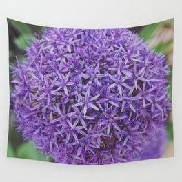 Purple Pom Wall Tapestry
