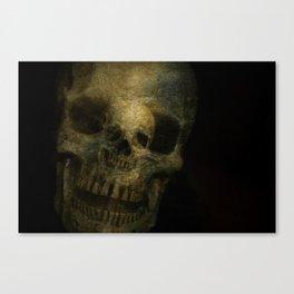 Double Exposure Skulls Photograph Canvas Print