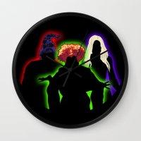 hocus pocus Wall Clocks featuring Hocus Pocus by Brieana