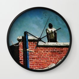 African American Masterpiece 'Freedom' by Hughie Smith Wall Clock