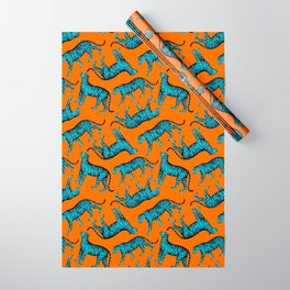 Tigers (Orange and Blue) Wrapping Paper