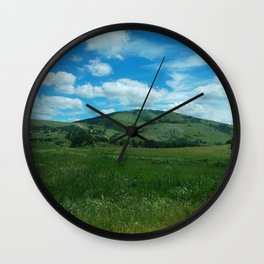 green and blue rapsody Wall Clock