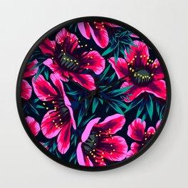 Manuka Floral Print Wall Clock