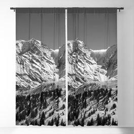 Mt. Blanc (Mono) Blackout Curtain