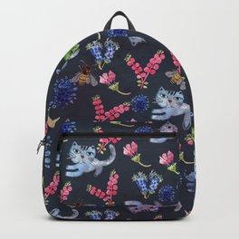 Bighead Blue Cat - Cat Art Backpack