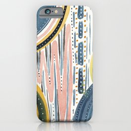 Watercolor improvisation 07 iPhone Case