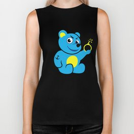 Evil Tattooed Teddy Bear Biker Tank