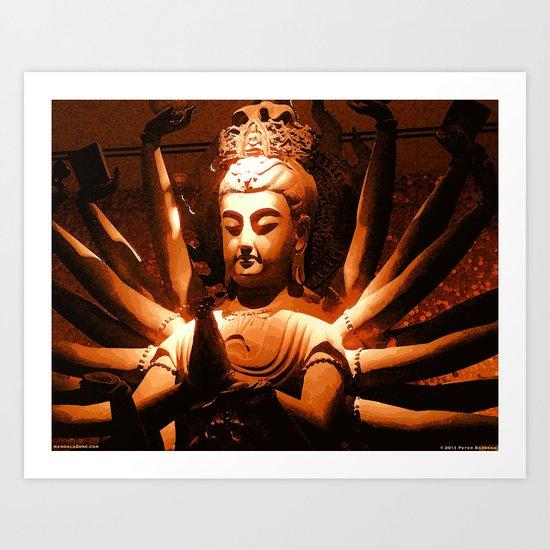 durga, indian goddess Art Print