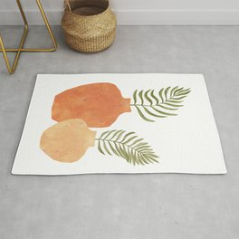 Terracotta vases and plants Rug