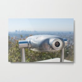 Coin operated telescope at the Griffith Observatory Metal Print