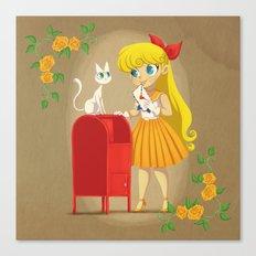 Retro Sailor Venus Canvas Print