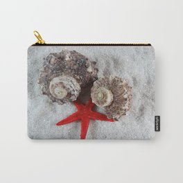 Seashell and Red Star Carry-All Pouch