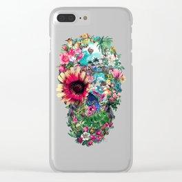 Summer Skull II Clear iPhone Case
