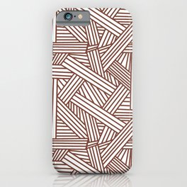 Sketchy Abstract (Brown & White Pattern) iPhone Case