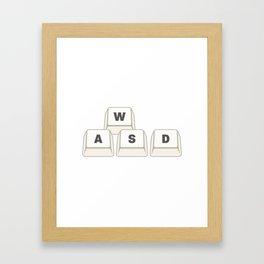 WASD Framed Art Print