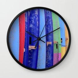 Color surf Wall Clock