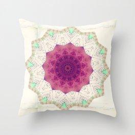 Bohemian Spirit Peace Mandala Throw Pillow
