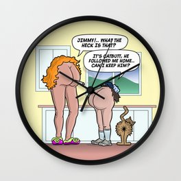 JIMMY'S CAT-BUTT! Wall Clock
