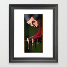 Girl in the Box Framed Art Print