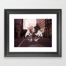 Los Angeles Beware Framed Art Print