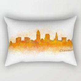 Cleveland City Skyline Hq V3 Rectangular Pillow