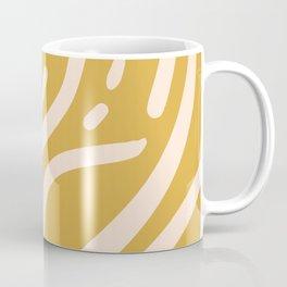 Earthy Mustard Yellow and Light Peach tribal inspired modern pattern Coffee Mug