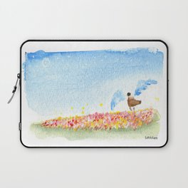 The Angel and the Rose fields Laptop Sleeve