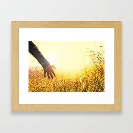 Walking Through the High Grass Framed Art Print