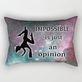 "Aerialist ""Impossible is just an opinion"" Graphic Rectangular Pillow"
