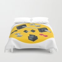 sport Duvet Covers featuring Sport equipment by Irmirx