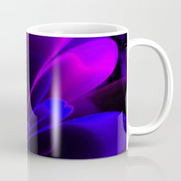 Stylized Half Flower Indigo Coffee Mug