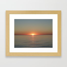 Michigan Sunset 3 Framed Art Print