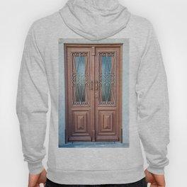Weathered Brown Wood Door of Old World Portugal Hoody