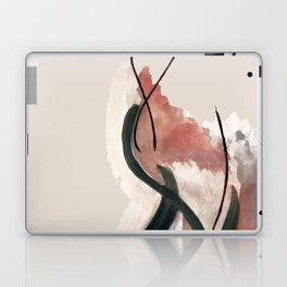 Storm: a minimal abstract mixed media piece in red white and blue Laptop & iPad Skin