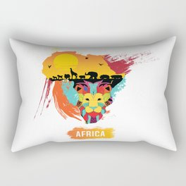 AFRICA LION KING OF THE JUNGLE Rectangular Pillow