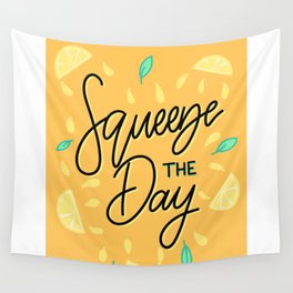 """Squeeze The Day"" Motivational Lettering Wall Tapestry"