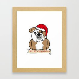 Bully Christmas Framed Art Print