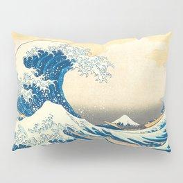 Japanese Woodblock Print The Great Wave of Kanagawa by Katsushika Hokusai Pillow Sham